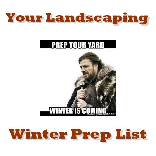 winter preparation for landscapes